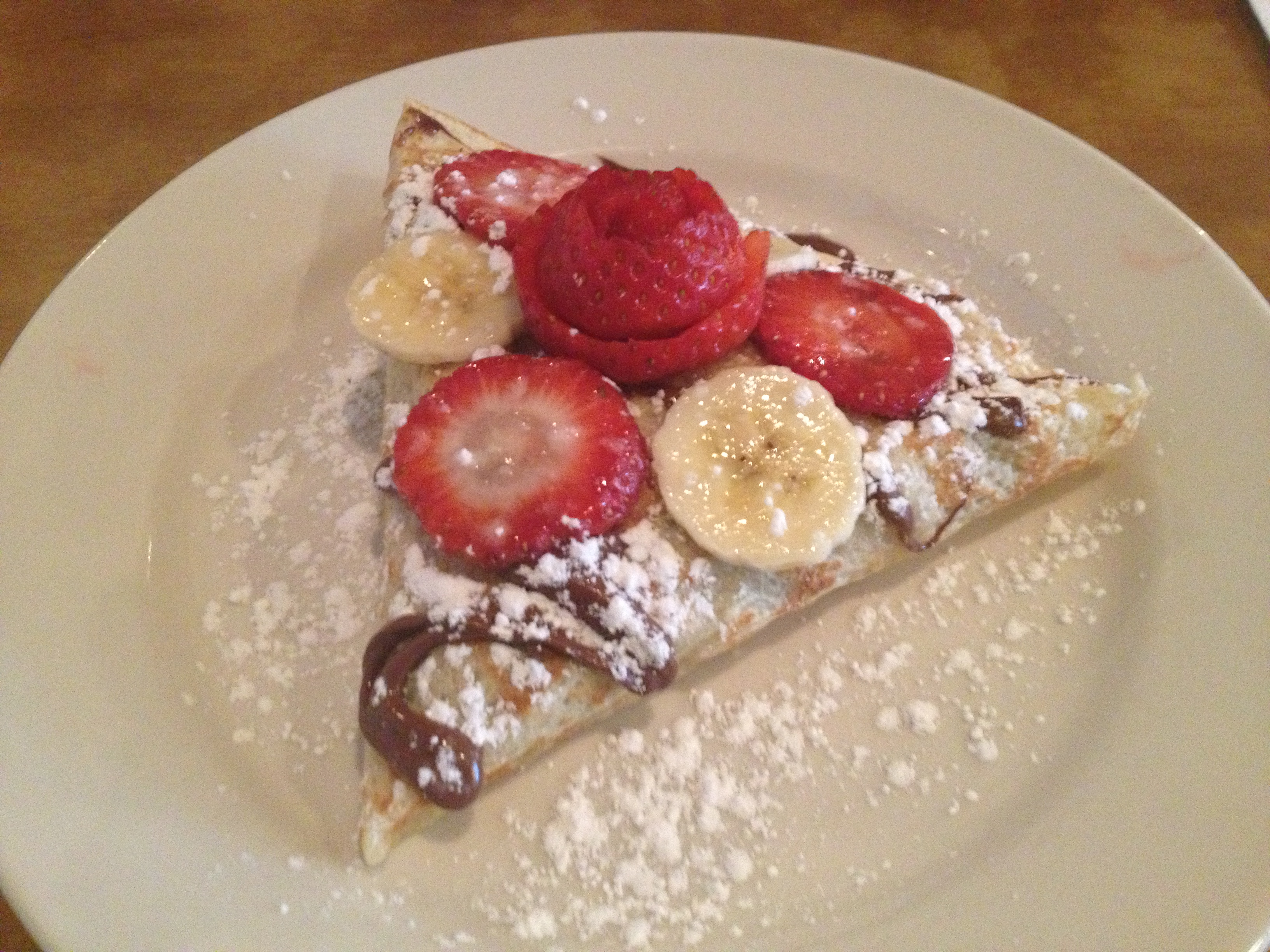 Yorkville Crêperie's Country Crêpe (Nutella, Strawberries & Banana)